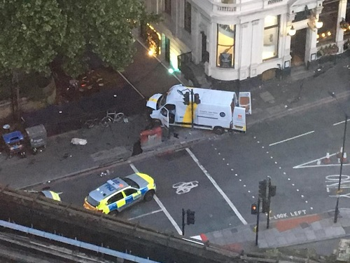Truck used in terrorist attack on London June 3, 2017