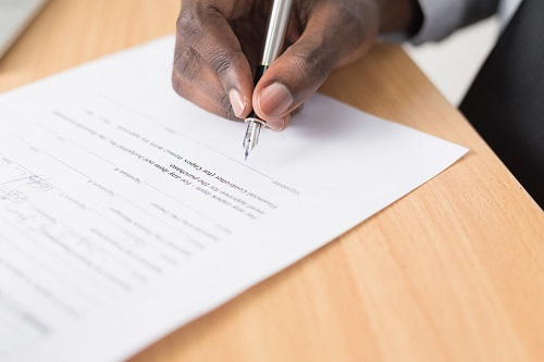 Signing an Employee Contract